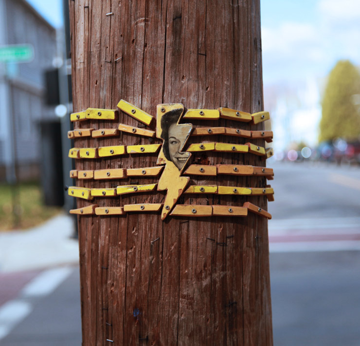 Lilliputian Art on Electric Poles: Patrick Picou Harrington in Albany