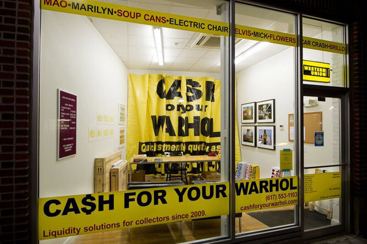 "Geoff Hargadon & ""Cash For Your Warhol"" Store/ Exhibition/ Performance in Boston"