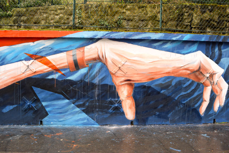 Skio and Théo Lopez at Square Henri-Karcher in Paris for Art Azoï