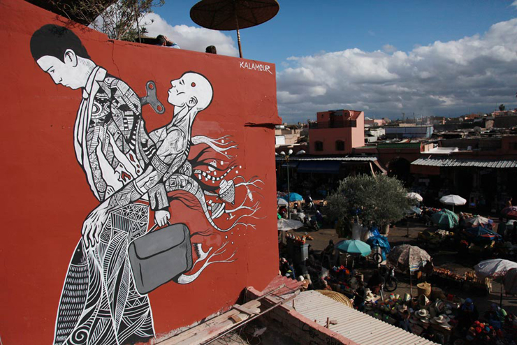 Street Artists at the Marrakech Biennale: Urban, Contemporary & Public