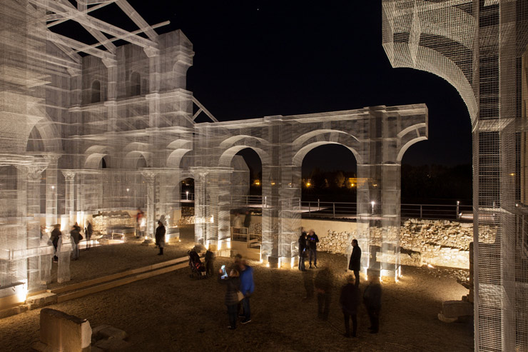 Resurrecting the Church with Air Sculpture by Edoardo Tresoldi