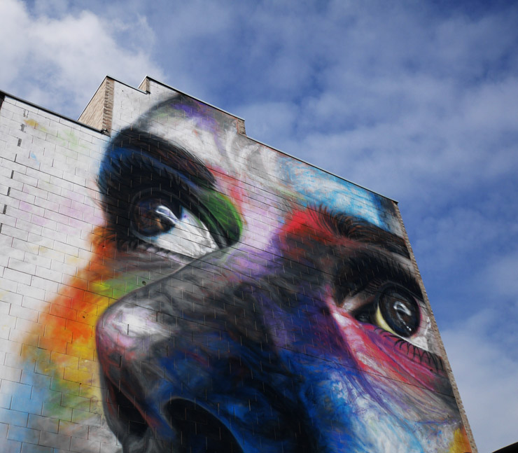 "David Walker Paints Largest Mural at Belgian School for ""Wild-Brabant"""