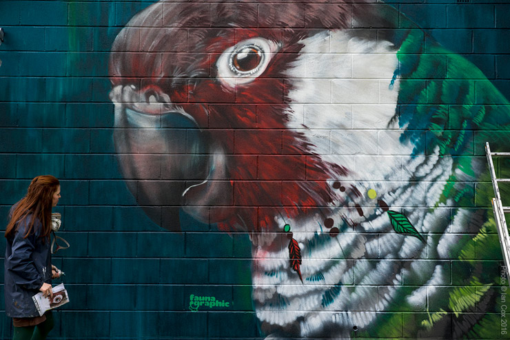 "Threatened Species Painted on London Walls for ""Endangered 13"""