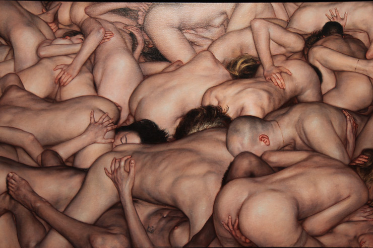 Dan Witz Paints Skinheads, Slam Dancing, Erotica