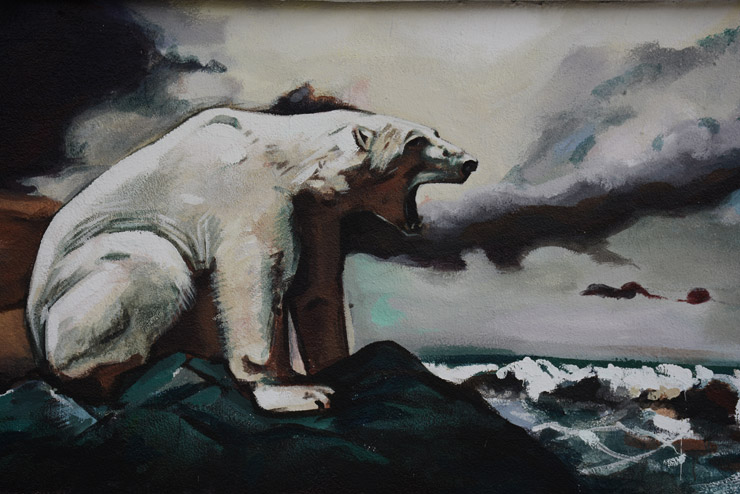 35 Artists in Barcelona Trying To Save The Arctic with Greenpeace