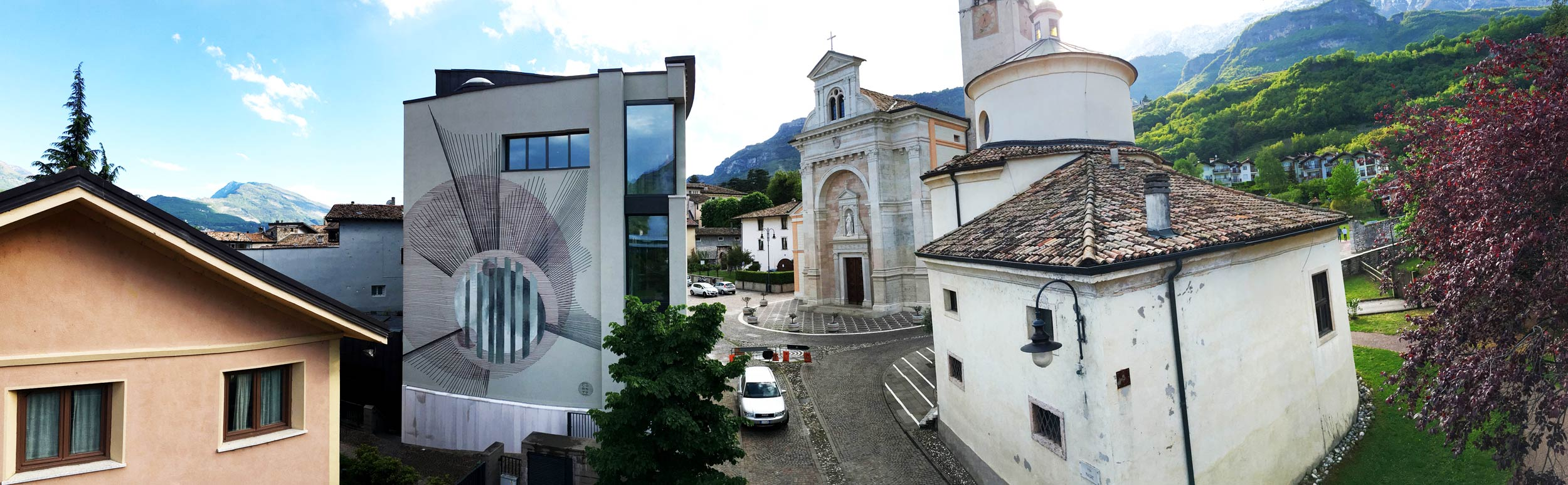 Corn79 and His New Mural in Tiny Villa Lagarina, Italy
