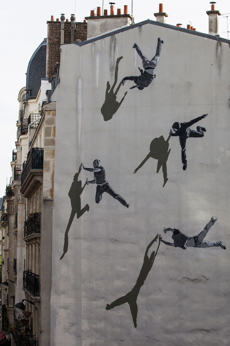 Strøk Strikes a New Angle on His Stencil Figures In Paris