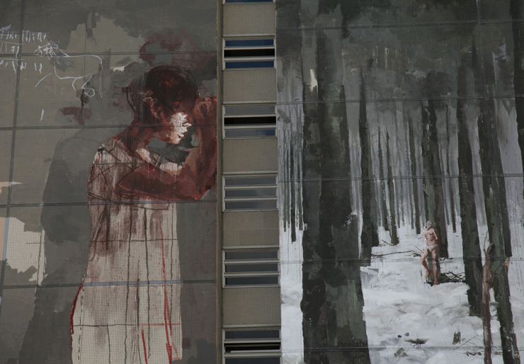 Borondo and a Blood Battle in Berlin About His Mural