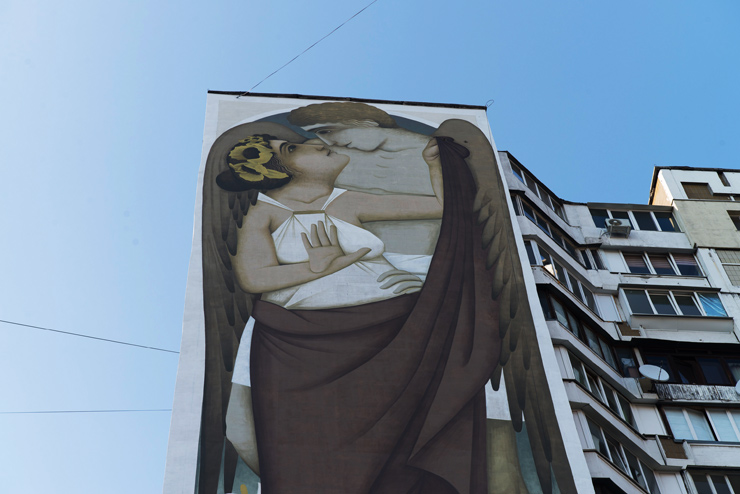 "FIKOS ""Earth and Sky"", Massive Byzantine Painting in Kiev"