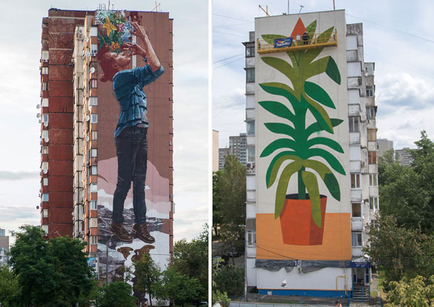 "Fintan Magee and Agostino Iacurci ""Water Please"" for Mural Social Club Festival in Kiev"
