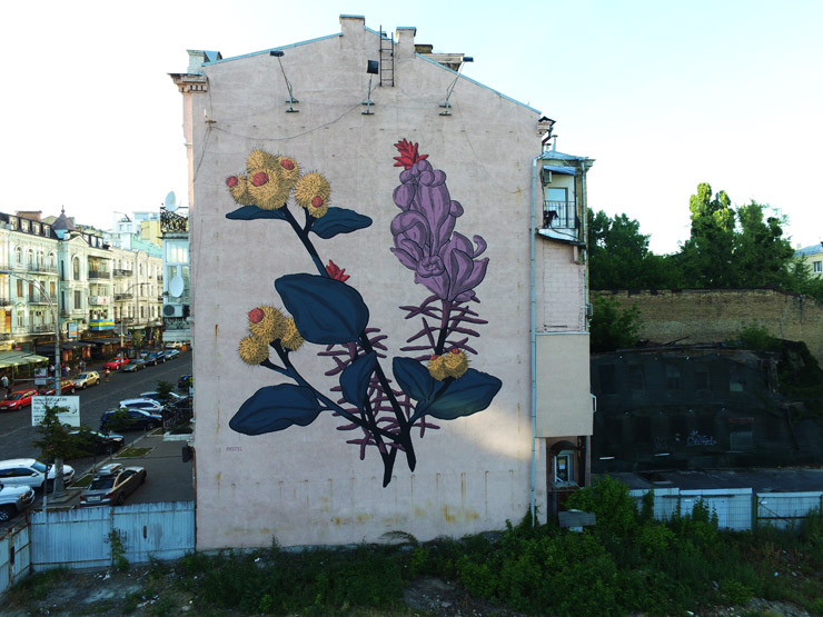 "ROA and Pastel in Kiev for ""Art United Us"""