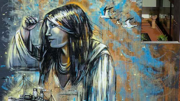 Australian Italian Museum Honors Immigration With Alice Pasquini Mural on Façade