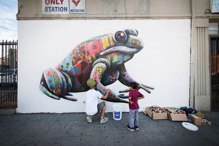 "Louis Masai, Leaping Frogs and Crawling Crayfish in LA : ""The Art Of Beeing"""