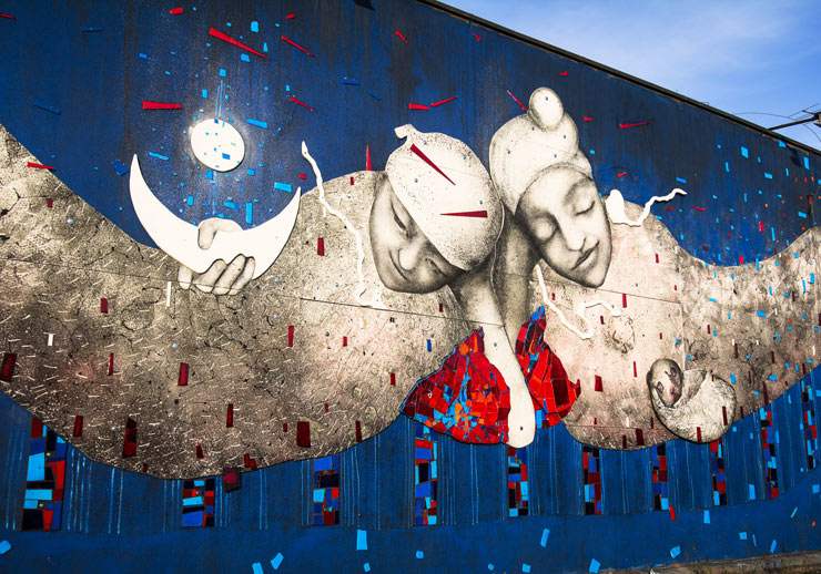Mona Tusz Creates New Relief in Lodz, Poland
