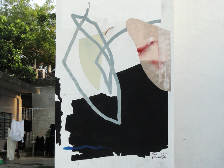 "Johannes Mundinger Painting in Mexico City for ""Wall Dialogue II"""