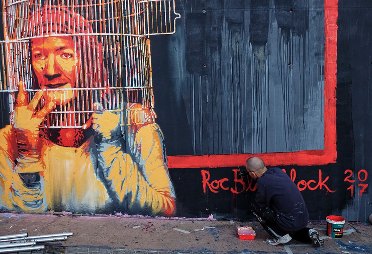 """""""Liberate the Child Within"""" Roc Blackblock for 12 + 1 in Barcelona"""
