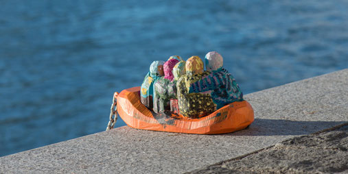 Rough.eq Creates Miniature Refugee Boats in Basel, Switzerland