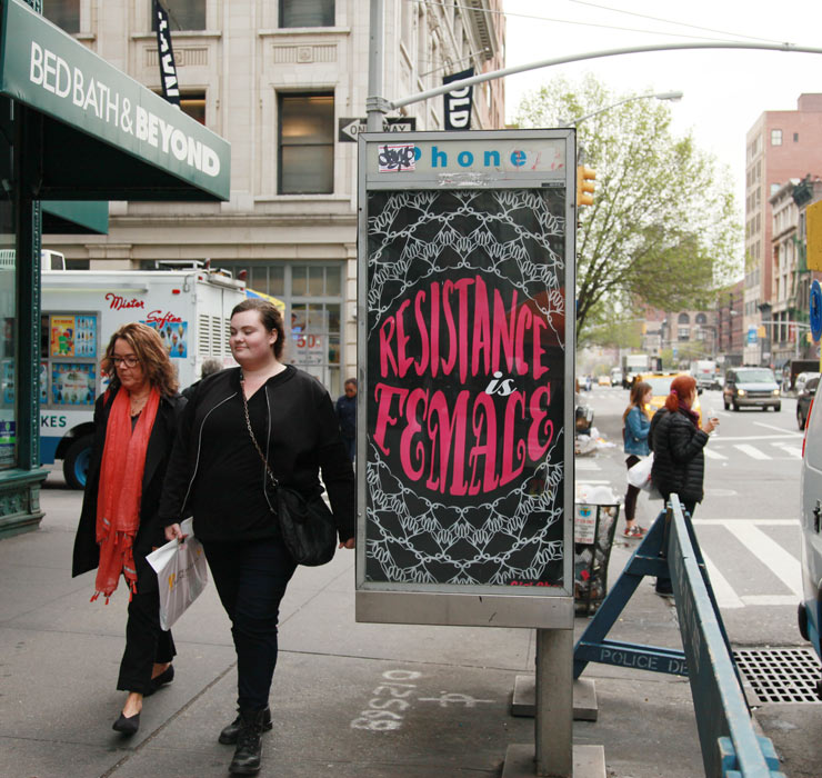 """Resistance is Female"" Takes Over Phone Booths in New York"