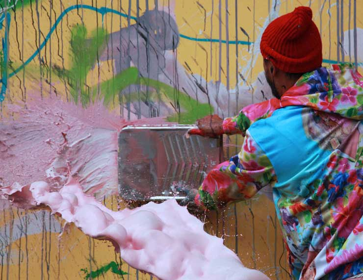 """David Choe Paints Houston-Bowery Wall, Accusers Call Him """"Rapist"""" in NYC"""