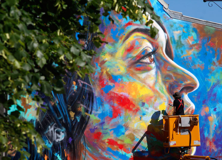 "David Walker in Lieusaint, France for ""Wall Street Art"""