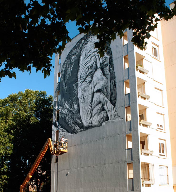 "ECB Brings ""DARYA"" to Evry, France for Wall Street Art Festival"