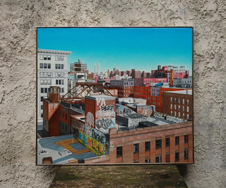 A Graffiti Painted Cityscape: Laura Shechter Documents Street Art on Canvas