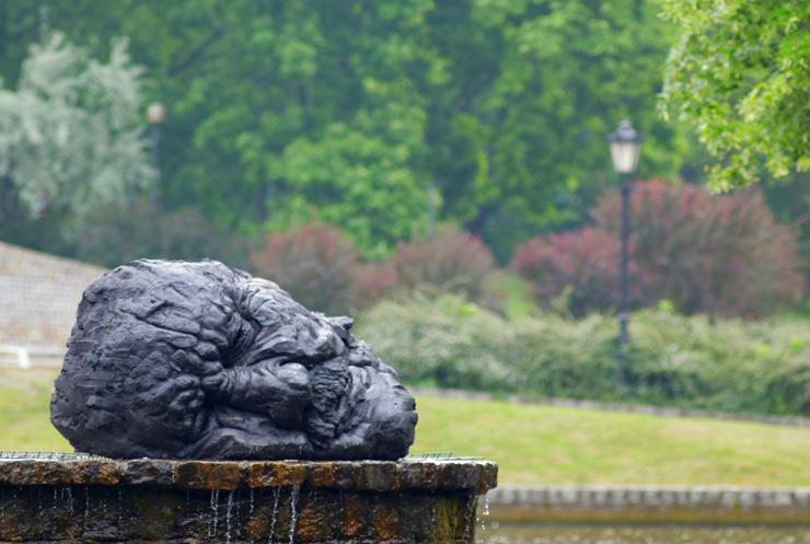 """The Head of John the Baptist"" in a Water Fountain in Łódź, Poland"