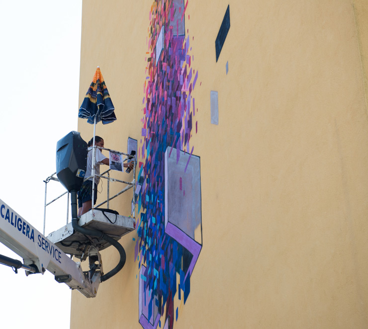 "Etnik and a Poplar Tree for ""Without Frontiers"" in Montova, Italy"