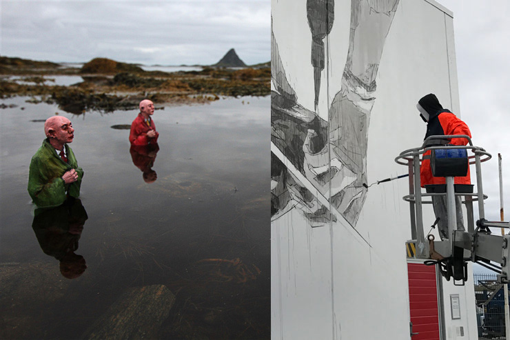 Isaac Cordal + INO. Up North Fest X BSA: Røst, Norway.  UPN Dispatch 1