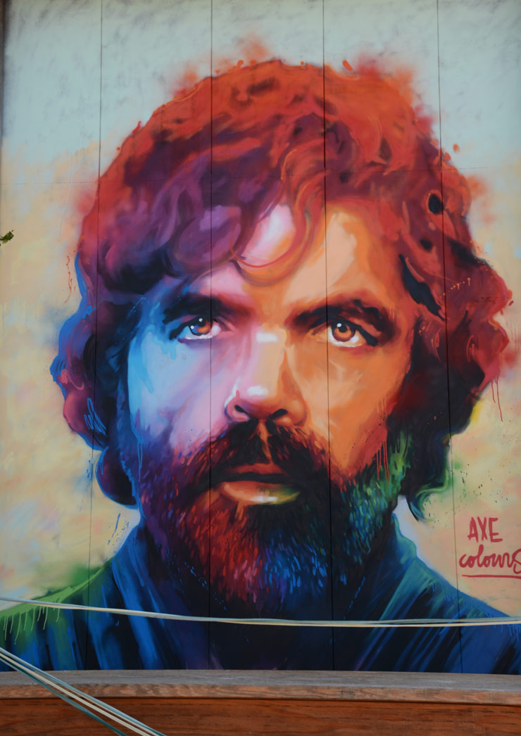 Street Game of Thrones: Tyrion Lannister by Axe Coulours in Barcelona