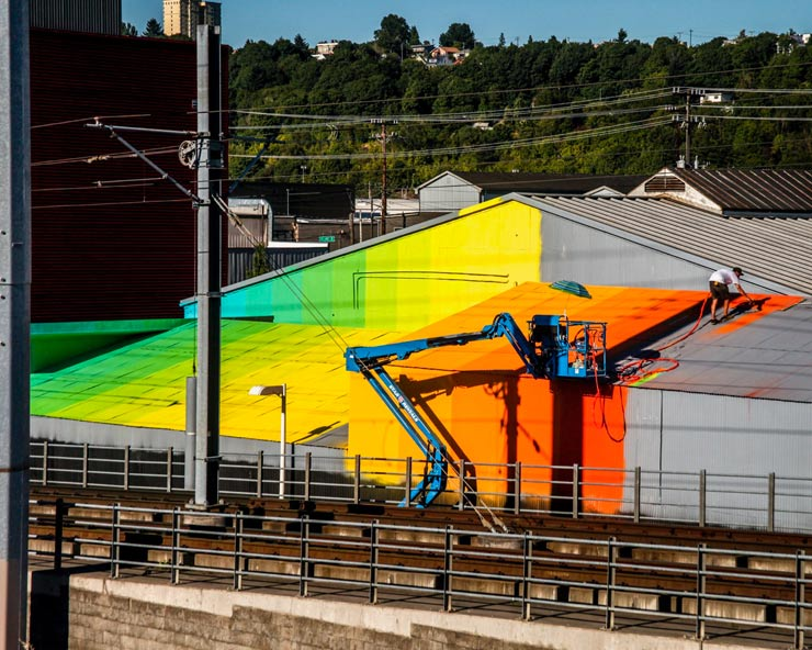 Christopher Derek Bruno and his 10K SF Color Intervention in Seattle