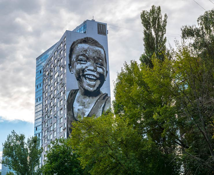 Xav Paints New Mural In Kiev and Meets Racist Resistance