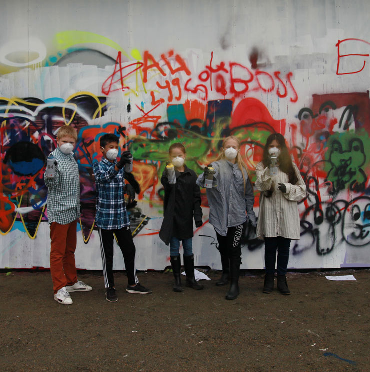"Borås Kids Smash the ""Open Wall"": Children's Workshop at ""No Limit"" : Dispatch 3"