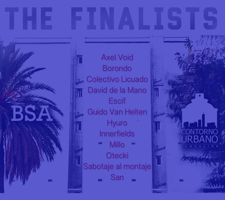 12 Finalist Artists Announced for Contorno Urbano Mural in Barcelona