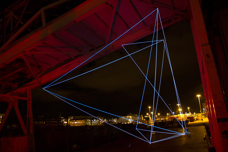 SpiderTag Traces Electric Geometry on the Swedish Waterfront