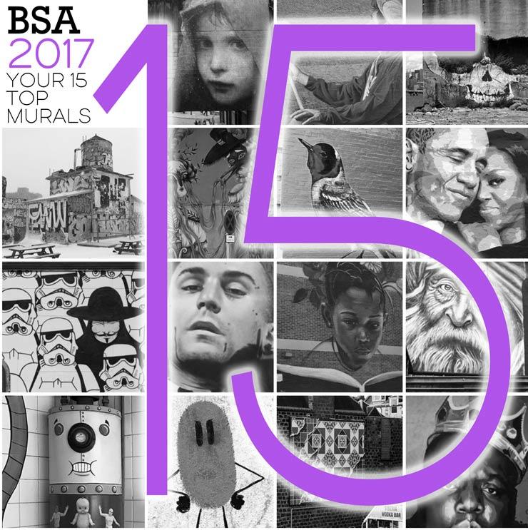"BSA's 15 Most Popular Murals Of 2017 – A ""Social"" Survey"