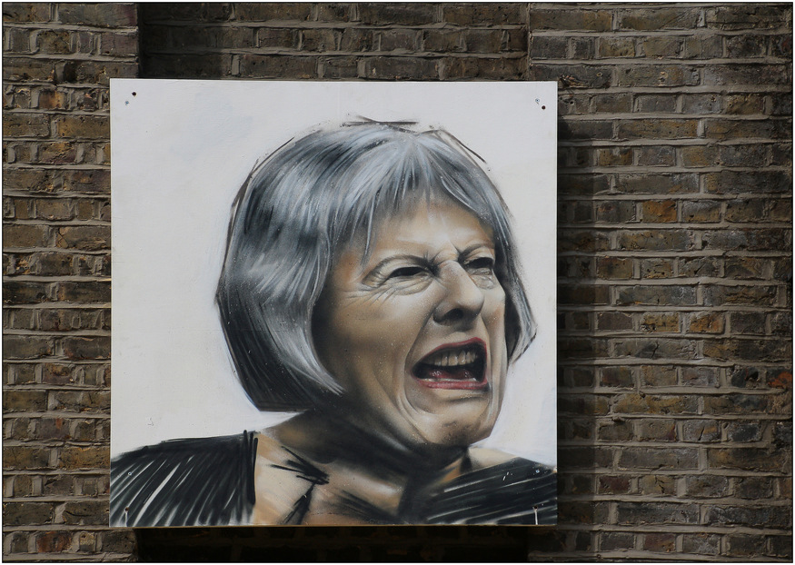 Theresa May Graces the Street Art Scene in London