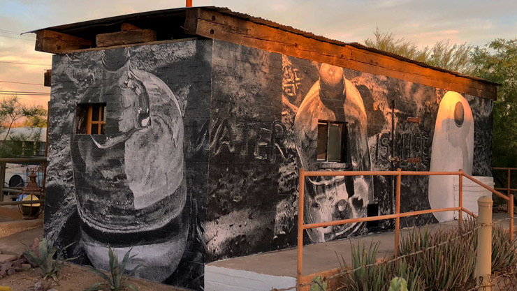 Destroying Desert Water Bottles; Chip Thomas' New Work in AJO, Arizona