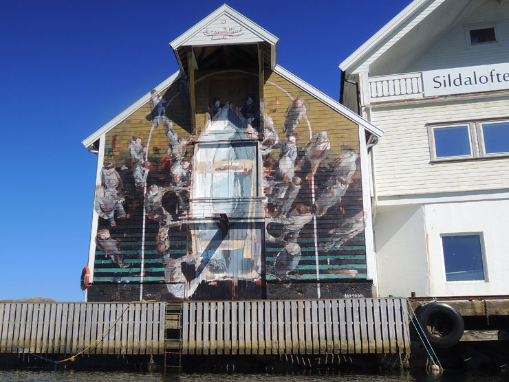 Borondo Finds Community on The Island Of Utsira in Norway
