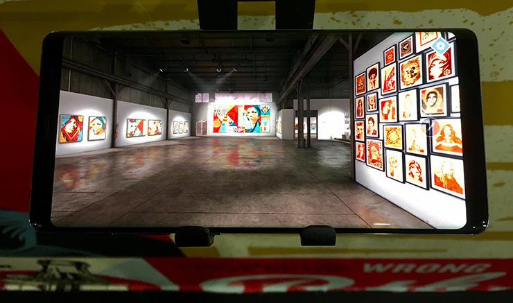Virtually Damaged : Shepard Fairey in New York to Launch VR/AR Exhibition App