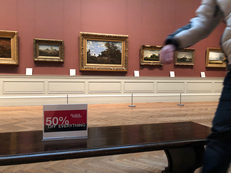 50% Off Everything at MET Museum! Nelson Saiers Commercializes the View