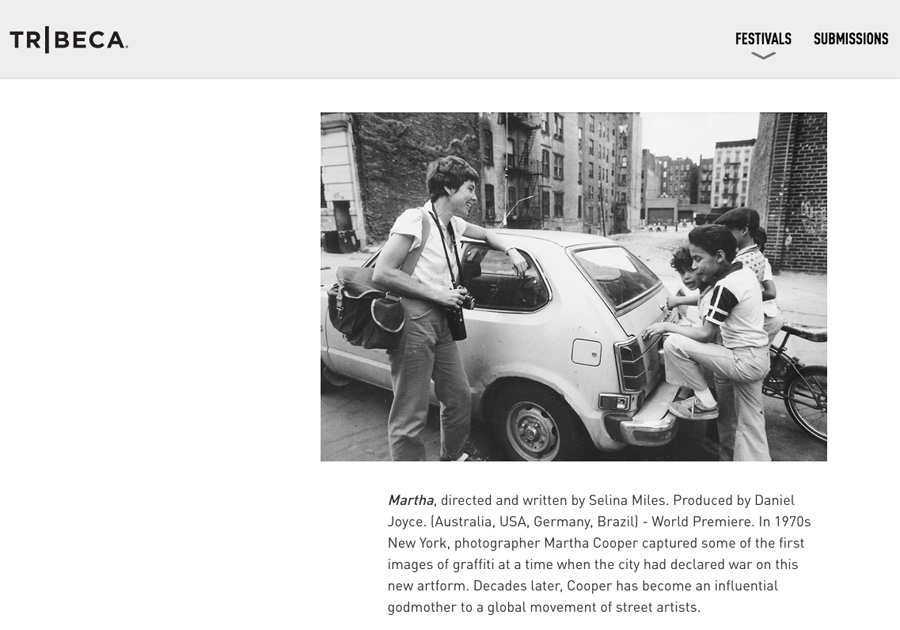 """MARTHA: A Picture Story"""" Premieres at Tribeca  A Film By"""