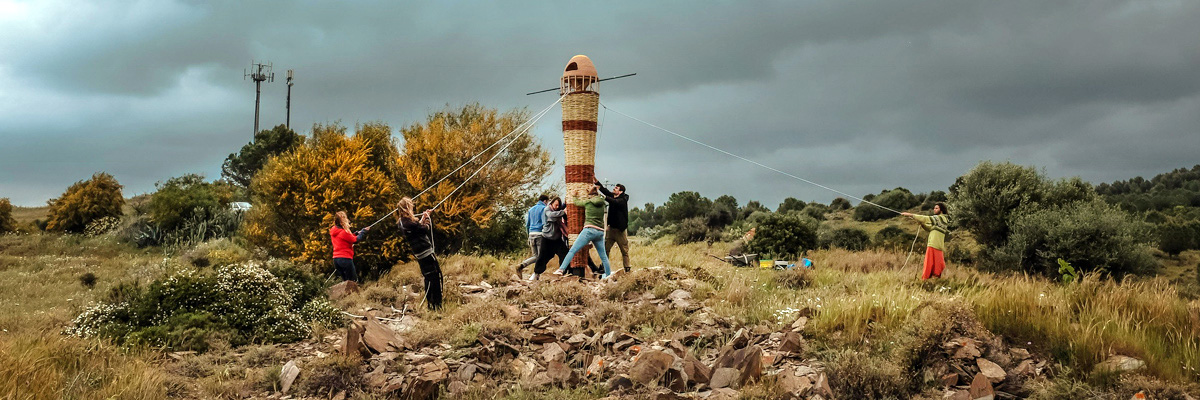 "Guided Flight with Gola Hundun: ""Torre di Volo"" Land Art in Sardinia"