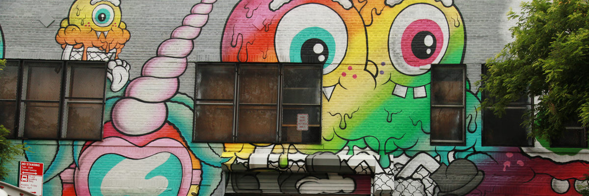 Buff Monster Pride : New Melty Mural in Manhattan