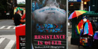 "The Dusty Rebel: ""Resistance Is Queer"" Phone Booth Campaign in NYC"