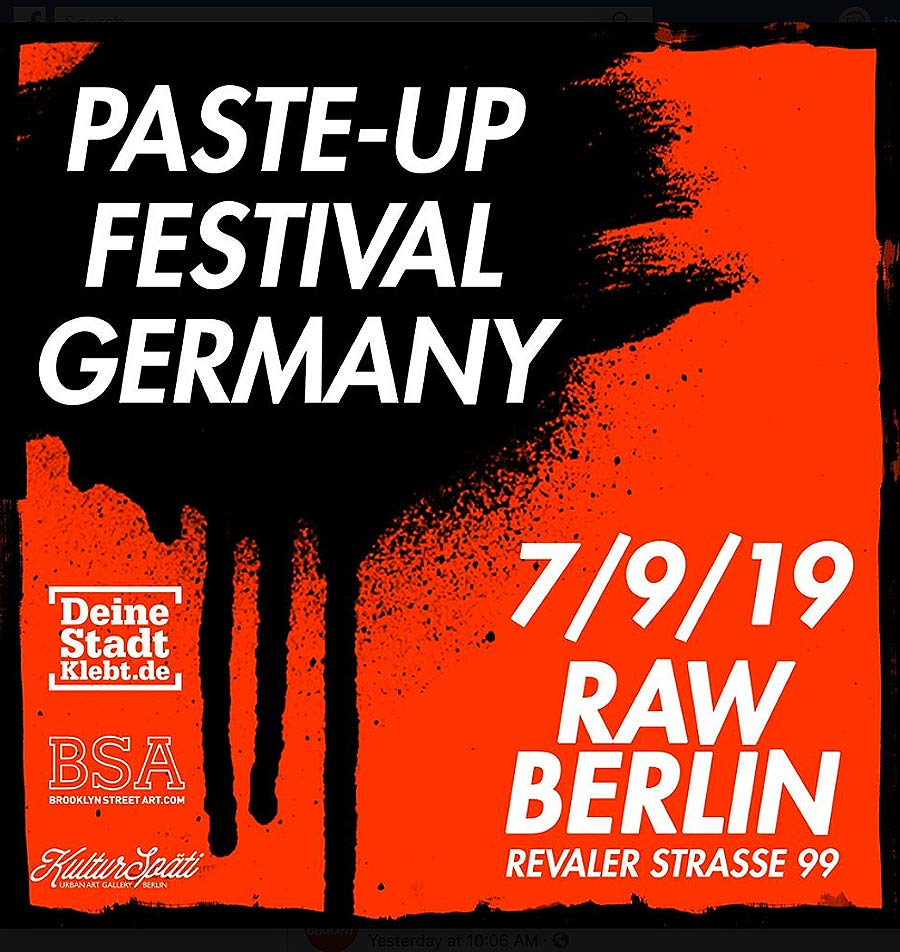 BSA Supports Paste Up Festival 2019 Germany in Berlin
