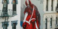 Shai Dahan & His Big Red Dala Horse Run Into Manhattan