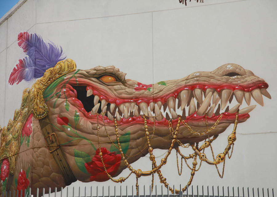 A Fabulously Showy Reptile by Saturno In Wynwood