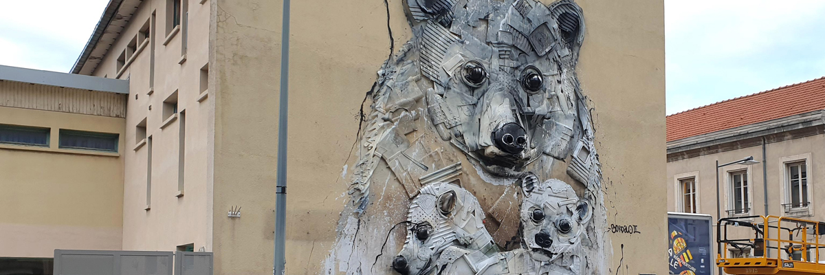 Bordalo II and Polar Bears in Nancy, France