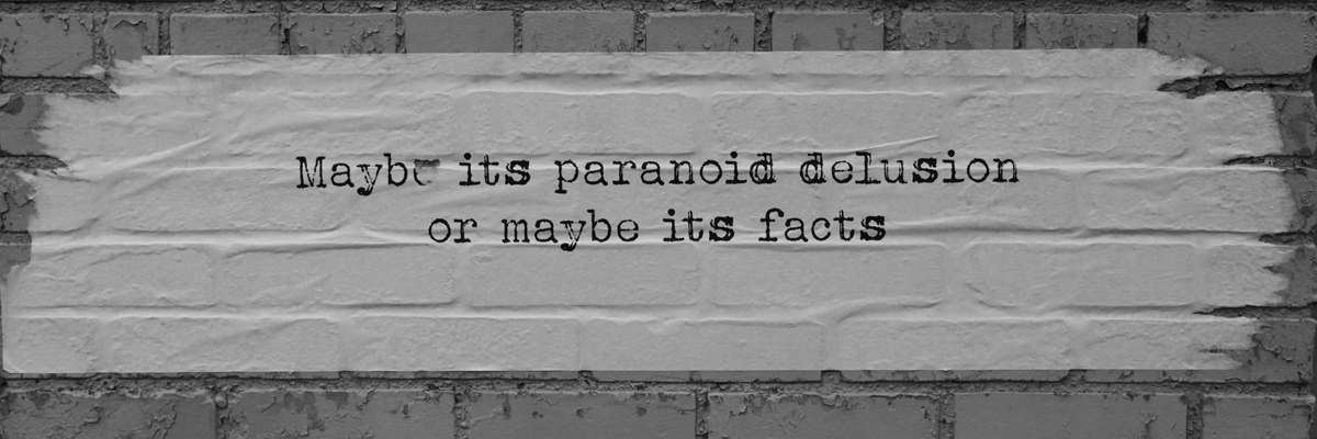 Paranoid Delusion or Facts: Dispatch From Isolation # 18